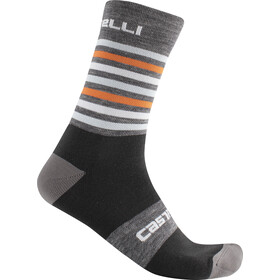 Castelli Gregge 15 Socks dark grey/orange